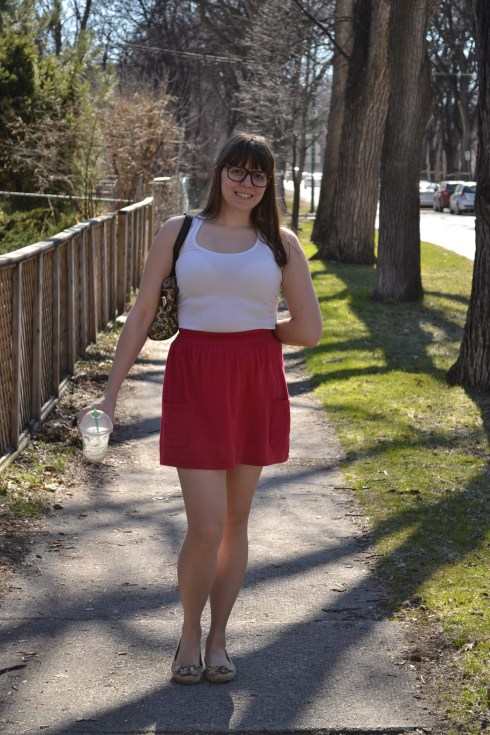 Style Challenge: Lauren Conrad Red Skirt