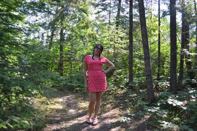 pink in the woods