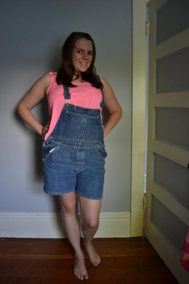 hot pink overalls