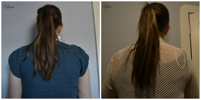 before and after - HASK Mint Almond Oil Thickening Hair Collection