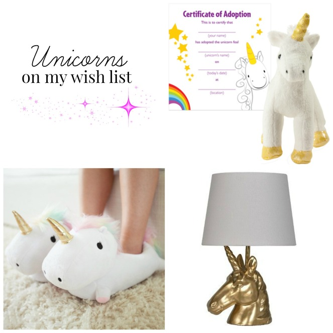 Unicorns on my wishlist